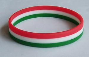 Magyar nemzeti zászló szilikon karkötők Bratari silicon steagul Ungariei
