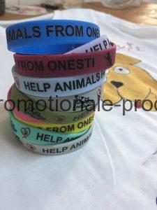 Brățări silicon gravate Help animals from Onești!